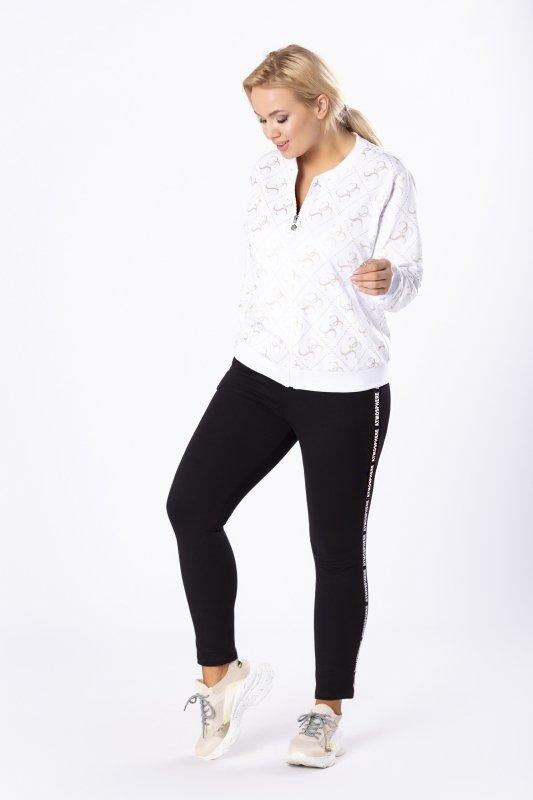 spodnie dresowe z cekinowymi lampasami
