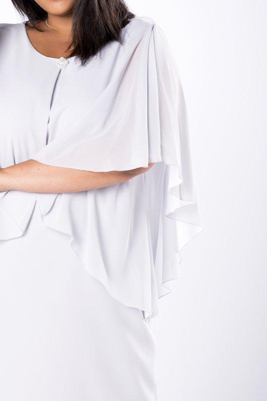 Sukienka elegancka WIOLA z narzutką