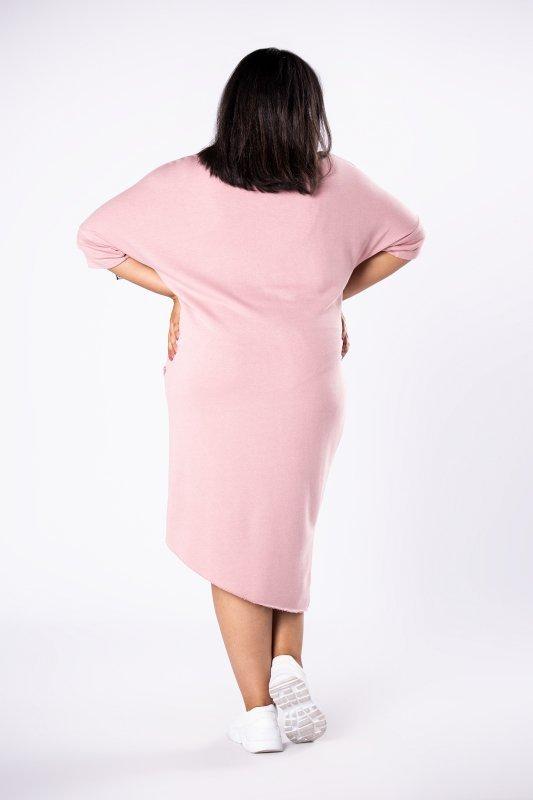 Sukienka dresowa MOKKA asymetryczna