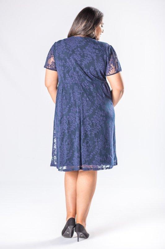 Koronkowa sukienka ARIA granatowa