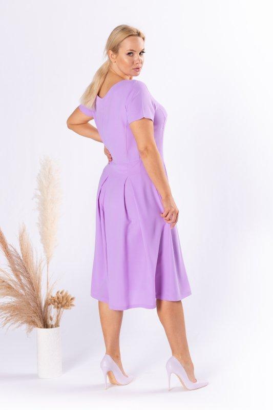 Sukienka rozkloszowana TRIS czerwona