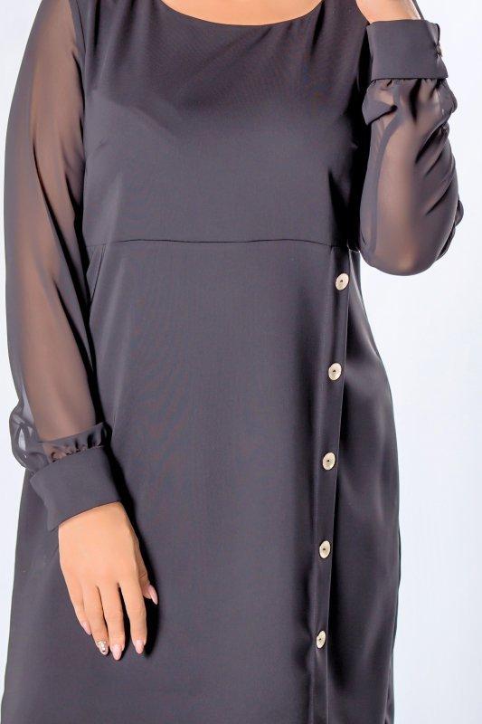 Sukienka MISTI tiulowe rękawy