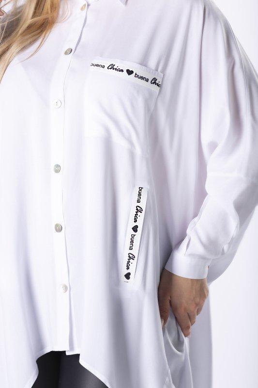 Koszula oversize JAŚMINA długi tył