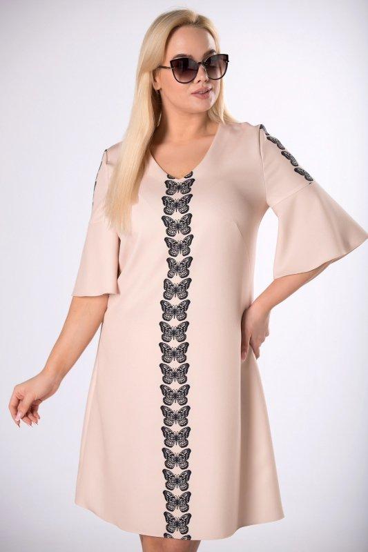 Sukienka koktajlowa KAMILA w motyle