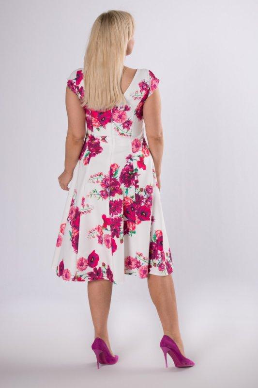 Sukienka w kwiaty FLO rozkloszowana