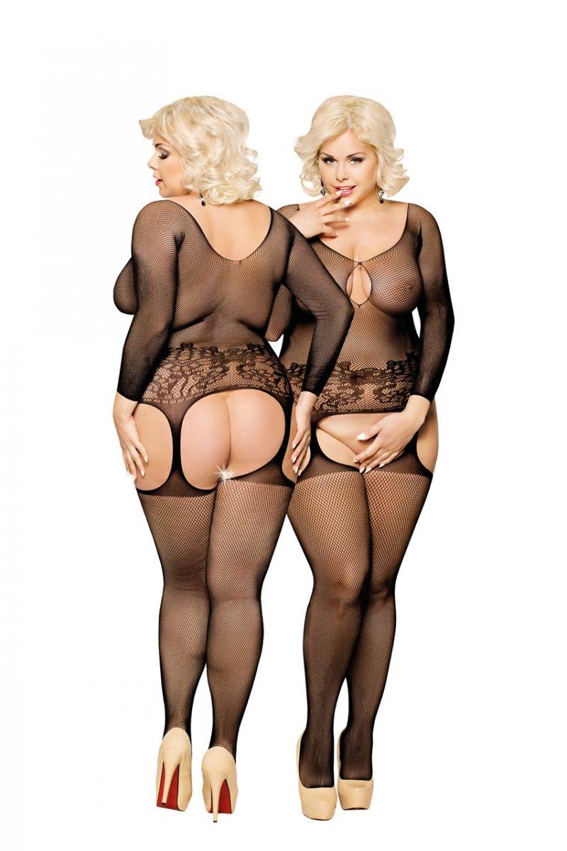 Bodystocking-damskie-LADYBIRD-XL-XXL-XXXL-BLACK-erotyczne-czarne-seksowne-dla-puszystych-na-prezent-swieta-boze-narodzenie