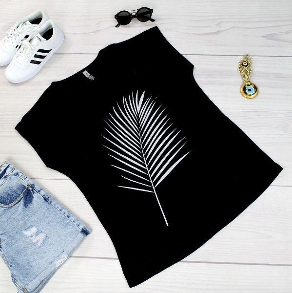 Czarna-bluzka-damska-plus-size-xl-xxl-dla-puszystych-PALMA-krotki-rekaw