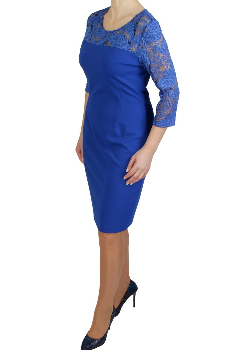 chabrowa-elegancka-sukienka-XXL-odziez-damska-plus-size-duze-rozmiary-dla-puszystej-online-sklep-internetowy-bok