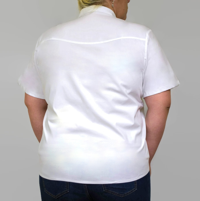 Biala-koszula-damska-xl-xxl-PLUS-SIZE-FIBI-46-54-krotki-rekaw-do-biura-pracy-egzamin-elegancka-tyl
