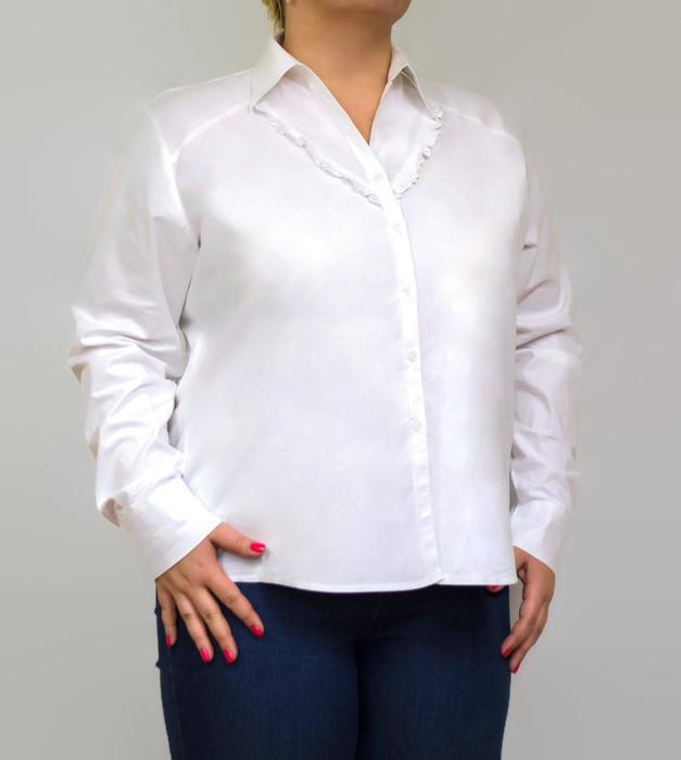 Koszula-damska-PLUS-SIZE-dla-puszystych-46-5-z-falbanka-BIALA-ESTELLA-na-egzamin-do-biura