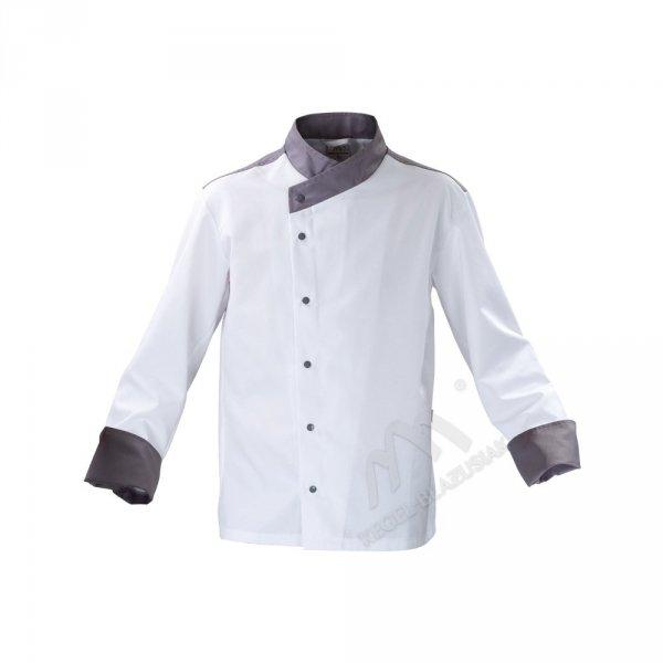Bluza kucharska biało - szara