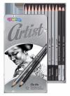 Zestaw ołówków ołówek do rysowania w pudełku COLORINO ARTIST 12szt (80118PTR)