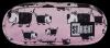 Piórnik dwukomorowy ST.RIGHT w pieski, DOGS PU2 (20720)
