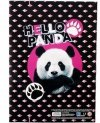 Teczka rysunkowa A4 z gumką STARPAK  Panda RÓŻOWA (447889)