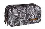 Piórnik CoolPack PRIMUS saszetka trzykomorowa czarno białe wzory do kolorowania, BLACK LACE 1000 (71734)