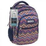 Plecak szkolny młodzieżowy Back UP w kolorowe zygzaki ZIG ZAG + słuchawki (PLB1B35)