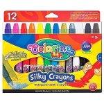 Kredki wykręcane żelowe 12 kolorów 3 w 1 COLORINO KIDS  (36078)