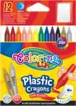 Kredki plastikowe, wymazywalne 12 kolorów COLORINO (67331)