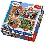 TREFL Puzzle 4 w 1 Tomek i przyjaciele, Podróże po świecie (34300)