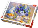 TREFL Puzzle 1000 el. Niebieski bukiet (10466)