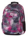 Plecak szkolny młodzieżowy COOLPACK URBAN w szaro - różowe paski PINK MOTION 379 (63180)