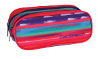 Piórnik CoolPack CLEVER dwukomorowy saszetka w kolorowe paski, TEXTURE STRIPES 736 (72984)