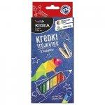 Kredki ołówkowe trójkątne 12 kolorów KIDEA (KT12KA)