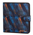 COOLPACK Teczka wielofunkcyjna organizer MATE, niebiesko-pomarańczowe wzory, TIRE TRACKS (73370CP)