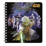 Kołonotatnik notes STAR WARS Gwiezdne Wojny MIX (KNSW)