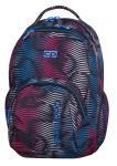 Plecak szkolny młodzieżowy COOLPACK SMASH w kolorowe paski, FLASHING LAVA 944 (70393)