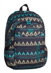 Plecak szkolny młodzieżowy COOLPACK URBAN 2 w etniczne wzory, EMERALD ETHNIC 928 (69953)