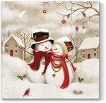 Serwetki świąteczne SNOWMAN, Paw (SDL098500)
