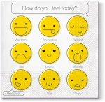 Serwetki dekoracyjne EMOTIKONY How do you feel 33x33 cm (SDL062500)