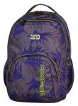 Plecak szkolny młodzieżowy COOLPACK SMASH szary w niebieskie liście, PALM LEAVES 970 (71086)