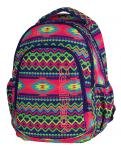 Plecak szkolny młodzieżowy COOLPACK PRIME w kolorowe zygzaki, BOHO ELECTRA 1061 (79518)