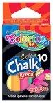Kreda kolorowa bezpyłowa 10 sztuk COLORINO (33152)