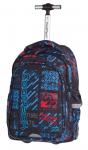 Plecak szkolny młodzieżowy na kółkach COOLPACK JUNIOR niebiesko - czerwone wzory, UNDERGROUND 833 (75640)