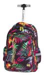 Plecak szkolny młodzieżowy na kółkach COOLPACK JUNIOR w egzotyczne rośliny, TROPICAL ISLAND 771 (73929)