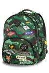 Plecak CoolPack BENTLEY zielone moro w znaczki CAMO GREEN BADGES (23704)