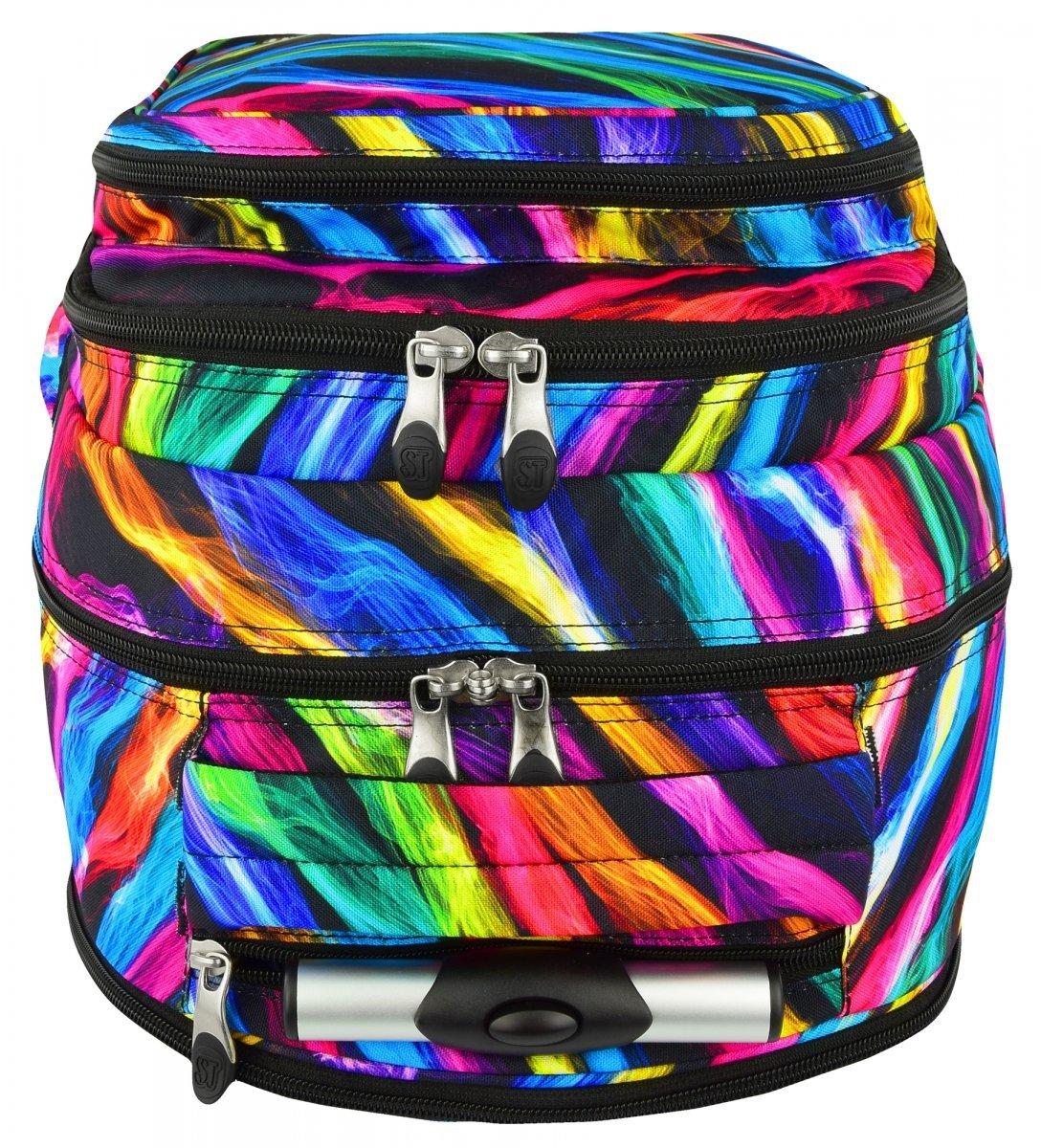 99abc3b89549b Plecak szkolny młodzieżowy na kółkach ST.RIGHT w kolorowe smugi ...