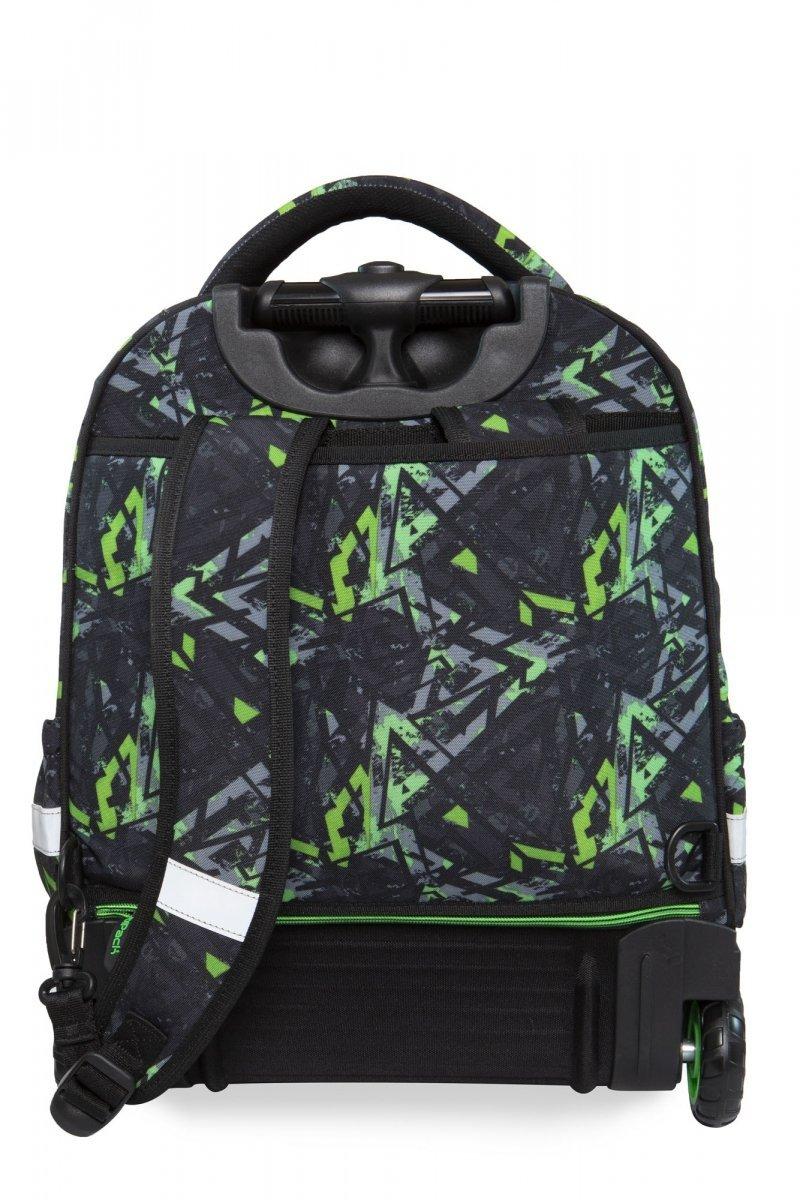 5ae5945e000b3 Plecak CoolPack STARR na kółkach w zielone wzory, ELECTRIC GREEN (B35099)
