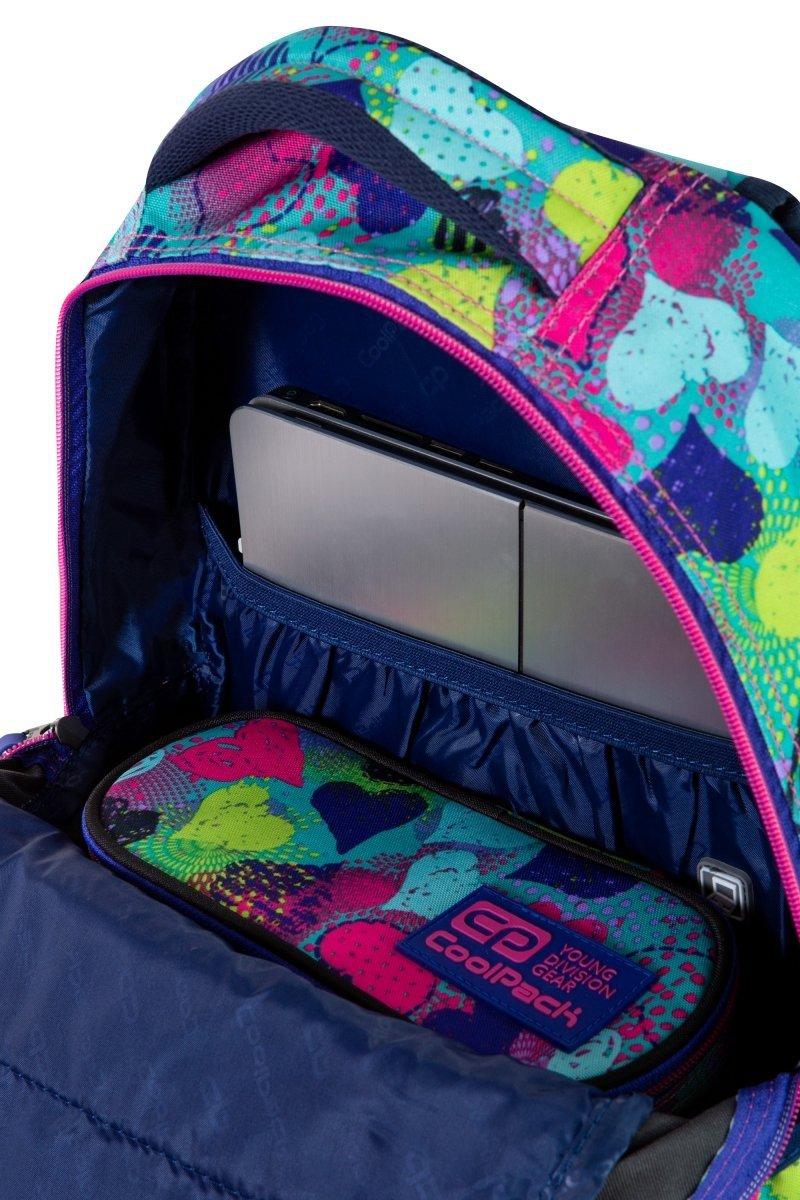 Plecak CoolPack DART 27 L serca, HEARTS GRAFFITI (C19145