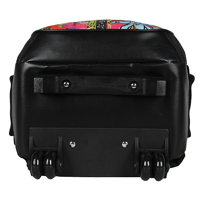 d8481474430b1 Plecak szkolny Młodzieżowy na kółkach czarny w kolorowe wzory DREAM BIG  (BDC997)