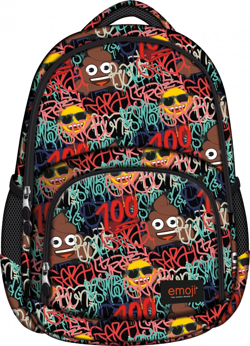 b95f8caa4dd48 Plecak szkolny młodzieżowy ST.RIGHT Emoji Graffiti EMOTIKONY BP23 (42106)