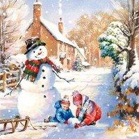 Serwetki świąteczne WINTER COUNTRYSIDE, Paw (SDL081300)