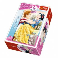 TREFL Puzzle mini 54 el. KSIĘŻNICZKI Królewna Śnieżka (19539)