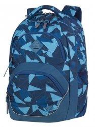 Plecak szkolny młodzieżowy COOLPACK VIPER niebieskie trójkąty, AZURE (81136CP)