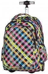 Plecak szkolny młodzieżowy na kółkach COOLPACK JUNIOR w kolorową kratkę COLOR CHECK 526 (61025)