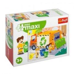 TREFL Puzzle miniMaxi 20 el. Pojazdy, Śmieciarka (21048)