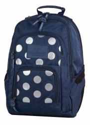Plecak szkolny młodzieżowy COOLPACK UNIT niebieski w kropki, SILVER DOTS/BLUE 704 (78658)